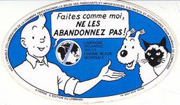 Tintin Et Milou , Sticker De La Chaîne Bleue - Tintin