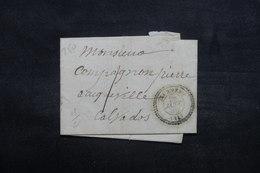 FRANCE - Lettre De Tournebu Pour Auqueville En 1856,à Voir - L 37066 - Marcophilie (Lettres)