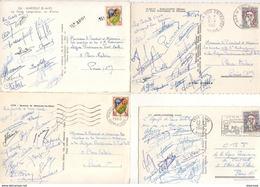 AUTOGRAPHES DES CADETS DE LA LIGUE PARISIENNE DE FOOTBALL 1960-1964 SUR CATE POSTALE - Autographs