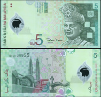 Malaysia 5 Ringgit. ND (2004) Polymer Unc. Banknote Cat# P.47a - Malesia