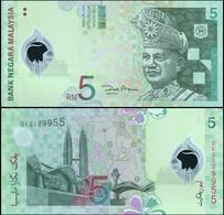 Malaysia 5 Ringgit. ND (2004) Polymer Unc. Banknote Cat# P.47a - Malaysia