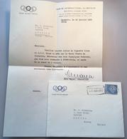 Schweiz LAUSANNE COMITÉ OLYMPIQUE 1960 Brief (Olympic Games Jeux Olympique Olympische Spiele Cover Lettre 1894 Coubertin - Switzerland