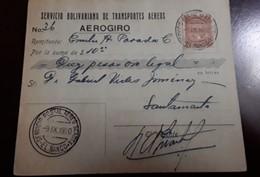 O) 1930 COLOMBIA, SCADTA -MAGDALENA RIVER AND TOLIMA VOLCANO, SCADTA EL BANCO -AEROGIRO. SERVICIO BOLIVARIANO DE TRANSPO - Colombie