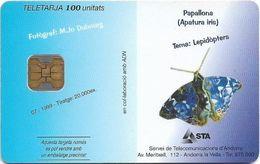 Andorra - STA - Papallona (Apatura Iris), Butterfly, 07.1999, 100Units, 20.000ex, Used - Andorra