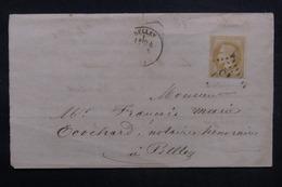 FRANCE - Lettre De Belley Pour Belley, Affranchissement Napoléon - L 37082 - Marcophilie (Lettres)