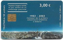 Andorra - STA - Mountains Puzzle 2/3, 11.2003, 3€, 5.000ex, Used - Andorra