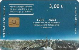 Andorra - STA - Mountains Puzzle 3/3, 11.2003, 3€, 5.000ex, Used - Andorra