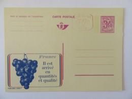 Belgique - Entier Postal Publibel 3f50 + 50c P010 (Bruxelles) Thème Vin / Raisin En Français - Neuf Non-circulé - Enteros Postales