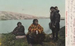 Eskimoes Of Alaska And Siberia, Native American Indians C1900s Vintage Postcard - Indiaans (Noord-Amerikaans)
