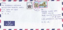 Saudi Arabia Air Mail Par Avion AL-TAIF (Blue Cds.) 199? Cover Brief LOS ANGELES United States - Saudi-Arabien
