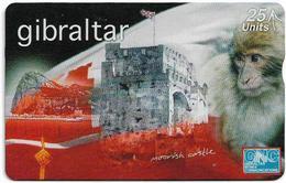 Gibraltar - GNC - Ape & Moorish Castle - L&G - 709L - 1997, 25Units, 3.000ex, Used - Gibraltar