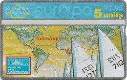 Gibraltar - GNC - Round The World Sailing Rally - L&G - 411L - 1994, 5Units, 3.000ex, Mint - Gibraltar