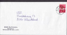 Denmark DSB Butikken Banegården Deluxe Brotype IId HOBRO B. 1989 Cover Brief DBU 100 År Michael Laudrup Stamp - Briefe U. Dokumente