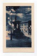 Trento - Piazza Vittorio Emanuele III° Colla Fontana Del Nettuno - Notturno - Non Viaggiata - (FDC16382) - Trento