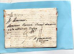 Bureau Français De ROME-L.A.C. Du 19/11/1788 à ROVIRA,chanoine De La Cathédrale D'ELNE - Poststempel (Briefe)