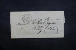 FRANCE / ALGÉRIE - Lettre De Constantine Pour Belley En 1854, Via Lyon - L 37093 - 1849-1876: Periodo Clásico