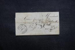 FRANCE / ALGÉRIE - Lettre De Medeah Pour Lyon - L 37094 - 1849-1876: Periodo Clásico