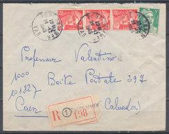 FRANCE - 24.12.1949, Reco Cover From TOULON SUR MER (Var) To CAEN (Calvados) - 1921-1960: Modern Period