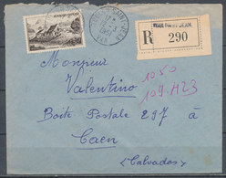 FRANCE - 12.3.1951, Reco Cover From TOULON SAINT JEAN (Var) To CAEN (Calvados) - 1921-1960: Modern Period