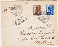 Trieste A, Sassone 196-197 Patti Lateranensi Serie Su Raccomandata Viaggiata  (05192) - 7. Trieste