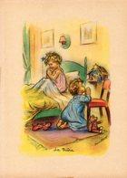 Germaine Bouret.La Prière, Image Usagée. - Images Religieuses
