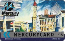 UK (Mercury) - Birmingham Town Hall - 8MERC -MER016 (BIG NOTCH) 5.000ex, Used - Reino Unido