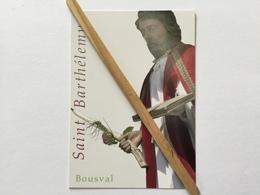 GENAPPE - BOUSVAL «SAINT BARTHÉLÉMY « Image Pieuse. - Genappe