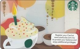 Malaysia  Starbucks Card  Birthday Drink 2013-6094 - Gift Cards