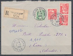 FRANCE - 7.4.1950, Reco Cover From TOULON SAINT JEAN (Var) To CAEN (Calvados) - 1921-1960: Modern Period