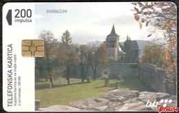 Bosnia Sarajevo - Medieval Town Ostozac, Used Chip Card - Bosnië