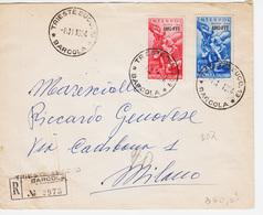 Trieste A, Sassone 207-208, Interpol Serie Su Lettera Raccomandata Viaggiata (05209) - Storia Postale
