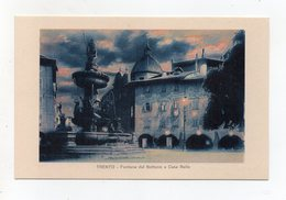 Trento - Fontana Del Nettuno E Casa Rella - Notturno - Non Viaggiata - (FDC16384) - Trento