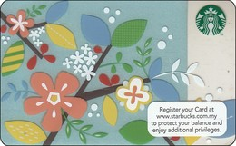 Malaysia  Starbucks Card  Spring Flowers 2013-6096 - Gift Cards