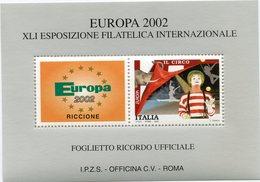 "ITALIE "" EUROPA 2002 "" BLOC-FEUILLET DE LA XLI EXPOSITION PHILATELIQUE INTERNATIONALE - Europa-CEPT"