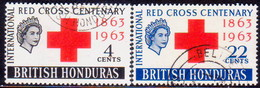 British Honduras 1963 SG #215-16 Compl.set Used Red Cross - British Honduras (...-1970)