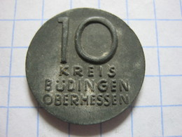 Büdingen 10 Pfennig - [ 3] 1918-1933 : Republique De Weimar