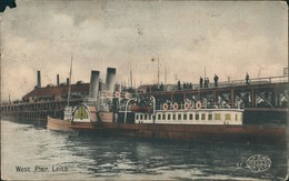 Postcard Leith (Schottland) West Pier Dampfer 1911 - Non Classés