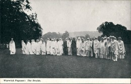Postcard Warwick Warwick Pageant The Druids 1940 - Royaume-Uni