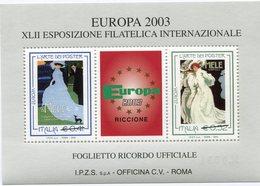 "ITALIE "" EUROPA 2003 "" BLOC-FEUILLET DE LA XLII EXPOSITION PHILATELIQUE INTERNATIONALE - Europa-CEPT"