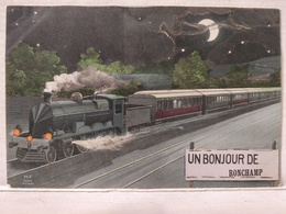 RARE. Ronchamp. Bonjour. Train - France