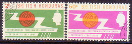 British Honduras 1965 SG #222-23 Compl.set Used ITU Centenary - British Honduras (...-1970)