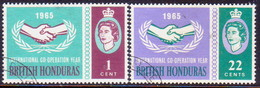 British Honduras 1965 SG #224-25 Compl.set Used Int.Co-operation Year - Brits-Honduras (...-1970)