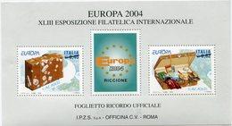 "ITALIE "" EUROPA 2004 "" BLOC-FEUILLET DE LA XLIII EXPOSITION PHILATELIQUE INTERNATIONALE - Europa-CEPT"