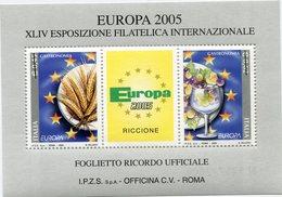 "ITALIE "" EUROPA 2005 "" BLOC-FEUILLET DE LA XLIV EXPOSITION PHILATELIQUE INTERNATIONALE - Europa-CEPT"