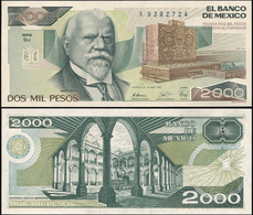 Mexico 2000 Pesos. 28.03.1989 Unc. Banknote Cat# P.86c Serie DJ - Mexico