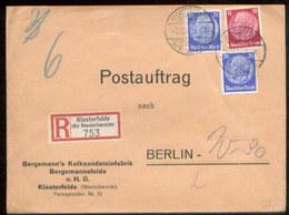 09455 DR R- Postauftrag Brief Klosterfelde - Berlin 1937 - Briefe U. Dokumente