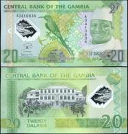 Gambia 20 Dalasis. 22.07.2014 (2015) Polymer Unc. Banknote Cat# P.30a - Gambia