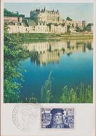 CARTE  9/7/1952/  CONGRES AMBOISE LEONARD DE VINCI COTE 850  OU FAIRE OFFRE - Cartes-Maximum