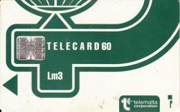 MALTA - Telecom Logo Lm 3(dark Green), CN : C4A146961, Chip SC7, 12/93, Used - Malte