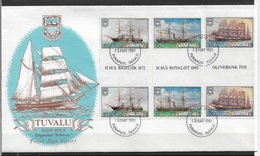 TUVALU 1981 FINE Cachet FDC Sailing Ships, Ships,VF-XF !! (RN-50) - Tuvalu